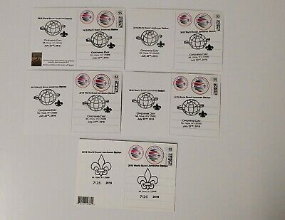 24th 2019 World Scout Jamboree Postcard set of 5 with OPENING DAY CANCELLATION
