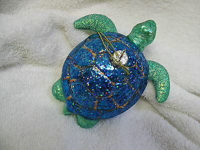 Turtle (Tortoise) Glass Ornament - Coastal Sea Beach Ocean Aquarium Tropical