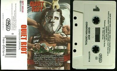 Quiet Riot Condition Critical Cassette Tape