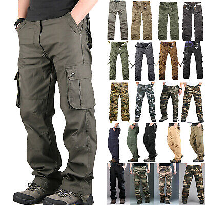 Men Military Army Style Cargo Camo Tactical Combat Workout Hiking Pants Trousers