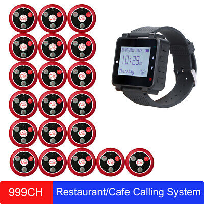 Retekess Wireless Restaurant/Cafe Calling System Watch Receiver w/ 20*Call Pager