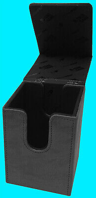 ULTRA PRO PREMIUM SUEDE ALCOVE FLIP JET DECK BOX Card Storage Case mtg ccg black
