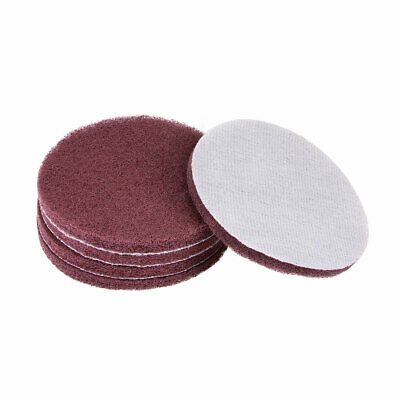 5 Inch 400 Grit Drill Power Brush Tile Scrubber Scouring Pads Cleaning Tool 5pcs