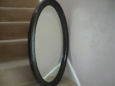 A Beautiful Large Oval Antique Victorian Mirror With A Chamfered Edge Glass