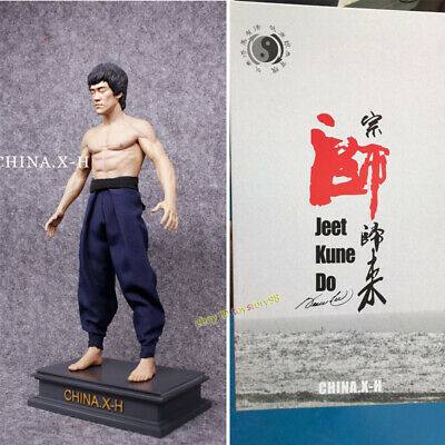 CHINA. X - H 1/6 Bruce Lee Action Figure Model Limited Collect Statue IN STOCK