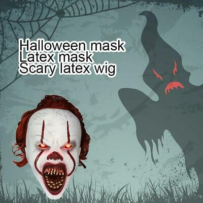 Halloween Cosplay Costume Masque Effrayant Film Stephen King IT Clown Pennywise