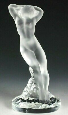 LALIQUE DANSEUSE NUDE 1970's FIGURE RARE SIGNED, A REAL BEAUTY OUTSTANDING
