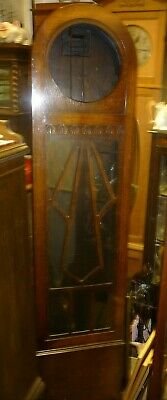 Good Antique Art Deco Dome Top Longcase Grandfather Clock Case