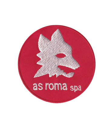Patch Toppa Brand AS Roma SPA Logo Marchio Ricamata Termoadesiva 7cm