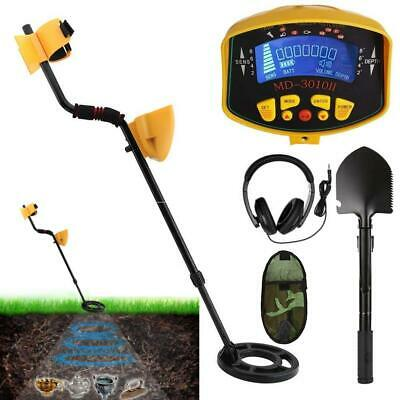 LCD Metal Detector Gold Digger Hunter Deep Sensitive Waterproof Coil w/Headphone