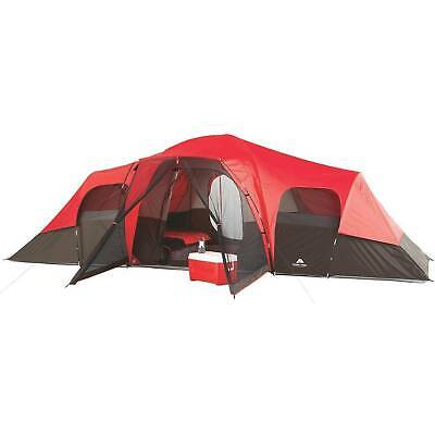 10-Person Family Camping Tent Large Outdoor Shelter Waterproof Hiking Room New