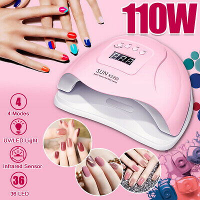 Nail Lamp 110W LED UV Light Gel Polish Nail Dryer Manicure Art Curing Machine