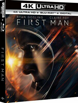 First Man 4K Uhd+Blu-Ray New/Sealed Dolby Atmos 7.1 Ryan Gosling-Neil Armstrong