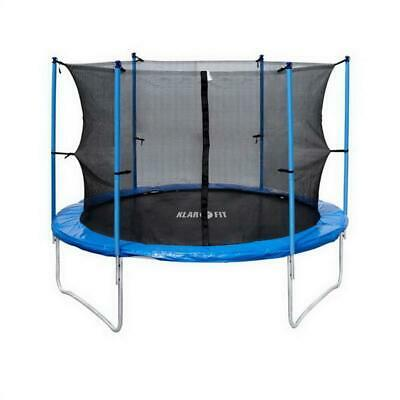 Trampoline Enfant Jeu De Plein Air Diametre 400Cm Filet De Securite 150Kg Bleu