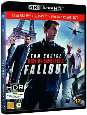 Mission Impossible Fallout New/Sealed 4K Ultra Hd Blu-Ray+Bonus Disc Dolby Atmos