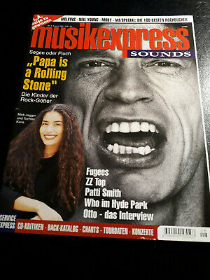 Musikexpress 8/1996 ZZ Top,Otto,Patti Smith,The Who,T.Rex,Metallica,Moby,Fugees