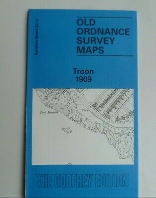 Old Ordnance Survey Detailed Maps Troon  Ayrshire 1909 Godfrey Edition
