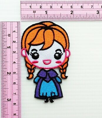 Frozen Anna Patch Cartoon Kids Movie Iron on Patch Embroidered Iron On Applique