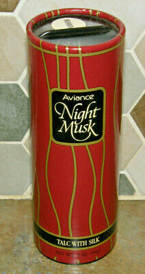 Vintage Prince Matchabelli AVIANCE NIGHT MUSK Perfumed Talc w/ Silk Powder 3 oz