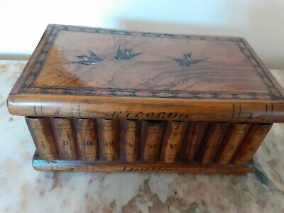 Antique Wooden  Box Made From Olive Wood  / Collectable / Sorrento Ware
