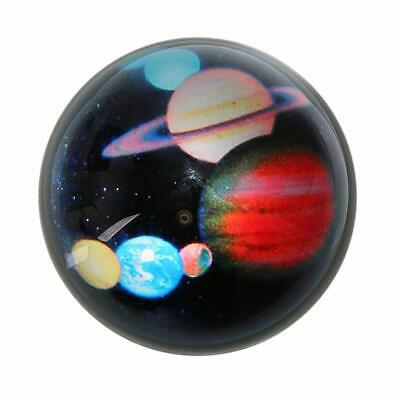 "Solar System Ball 3"" Half Crystal Glass Ball Sphere Decorative Art Paperweight"
