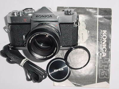 KONICA AUTOREFLEX T3 SLR 35mm Film Manual Camera w/ 50mm F1.4 AR HEXANON Lens