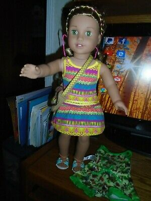 American Girl Doll Lea Clark 2016 Doll Of Year with Clothes Pajamas Beautiful