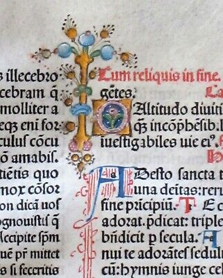 Extremely rare incunabula Breviary lf.on vellum,Jenson1478,handc.deco initials