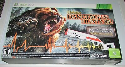 Cabela's Dangerous Hunts 2013 Bundle for Xbox 360 Brand New! Factory Sealed!