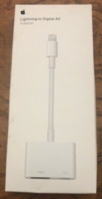 Apple Lightning to Digital AV Adapter HDMI- Genuine OEM Authentic - MD826AM/A