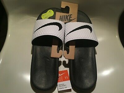 Nike Benassi Solarsoft Mens Black/White Size 11 Nike Slides Sandals Flip flops