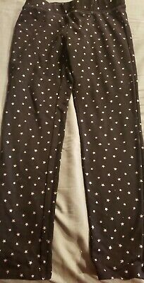 Black Leggings W/ Silver Glitter Stars [The Children's Place] Size: 7/8