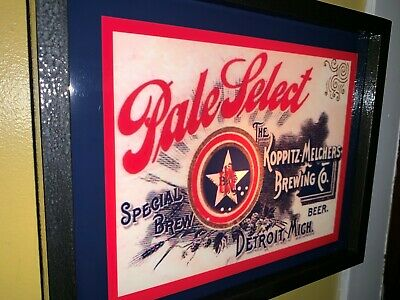 Pale Select Detroit Michigan Beer Bar Tavern Man Cave Lighted Advertising Sign