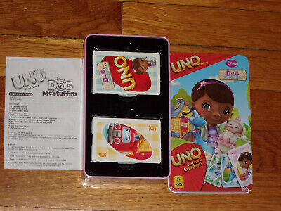 2013 Uno Doc McStuffins Card Game Complete in Tin Box Excellent Condition