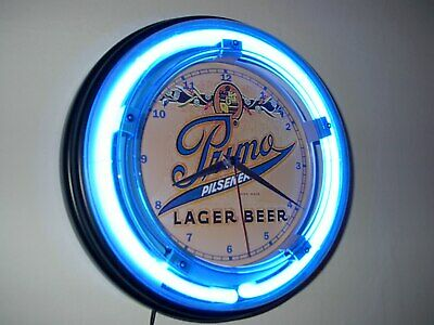 **Primo Hawaiian Beer Bar Tavern Blue Advertising Neon Wall Clock Sign