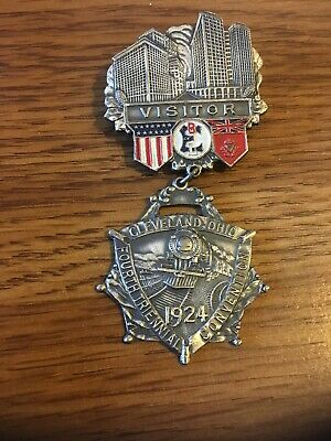 1924 Cleveland Ohio Fourth Triennial Convention  -Visitor Pin Badge
