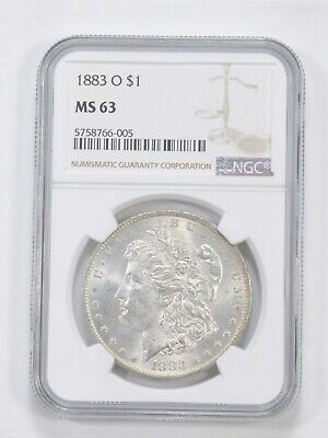 MS63 1883-O Morgan Silver Dollar - Graded NGC *287