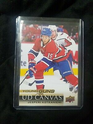 2018 19 Upper Deck Series 2 Jesperi Kotkaniemi Young Guns Ud Canvas # C223