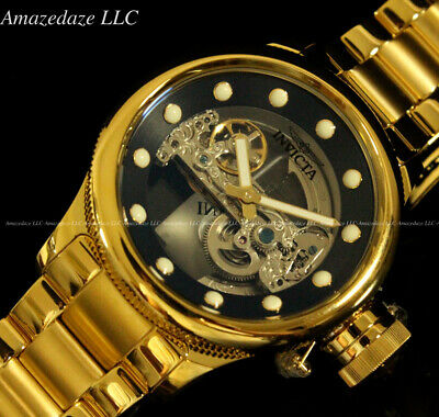 NEW Invicta Mens 52mm Russian Diver GHOST BRIDGE AUTOMATIC Stainless St. Watch