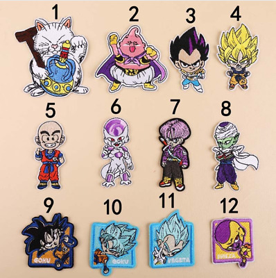 Patch Toppa Dragon Ball Goku Vegeta Majin Bu Freezer Crili Ricamata Termoadesiva