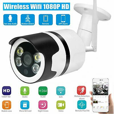 1080P Wireless WiFi IP Camera Home Outdoor Security Night Vision Two Way Audio