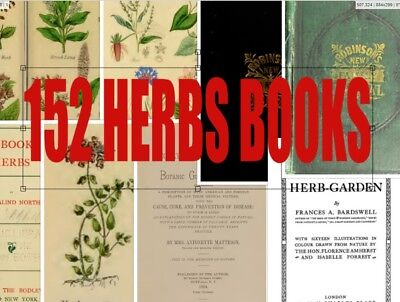 152 HERBS Books MEDICINAL PLANTS Botany Herbal Remedies Wicca Herbal Disc PDF