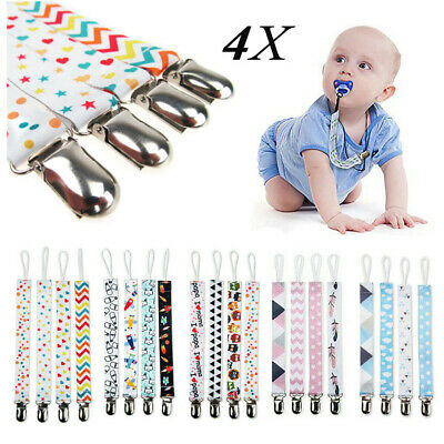 Dummy Clip Baby Soother Clips Chain Holder Pacifier Strap Many Designs #UK