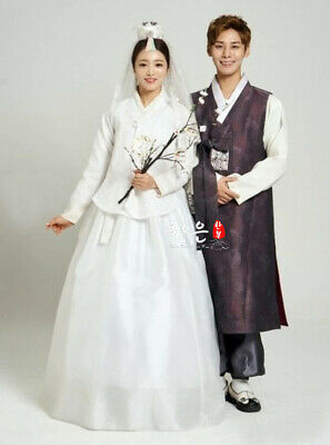Korean Imported Fabric Bride Groom Wedding Hanbok Couple Hanbok Wedding Dress
