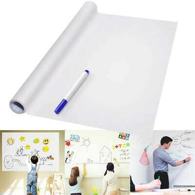 PVC Back Sticky White Board Roll Up Reusable Message Board Remind Memo Pad Hot