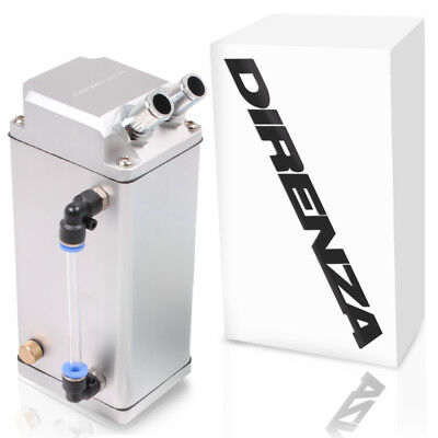 Direnza Universal Silver Square Metallmotor Oil Catch Breather Can Kit