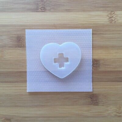 Nurse Heart Plastic Resin Shaker Mold Flexible Mould UV Cross Charity Love medic