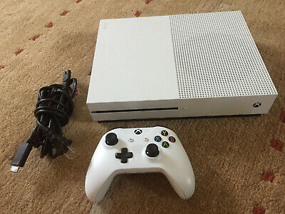 Microsoft Xbox One S 1TB Console Video Game Home System Bundle 1681 White HDMI