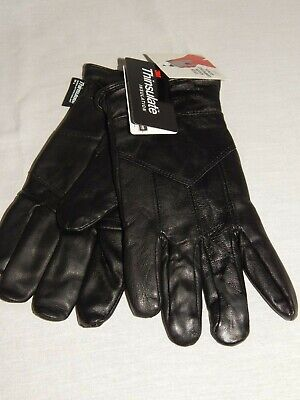 Men's Leather Touch Screen Gloves NEW Black 3M Thinsulate 80 Gram Winter Driving