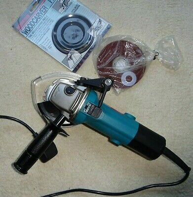 """MAKITA 4 1/2"""" Angle Grinder 240v 9524NB with Woodcarver PRO-2 & Steel Cut Disc"""